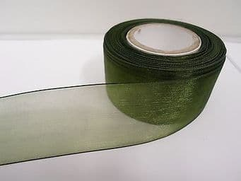 40mm Sheer Organza Ribbon 2 metres or 25 metre roll double sided 40 mm